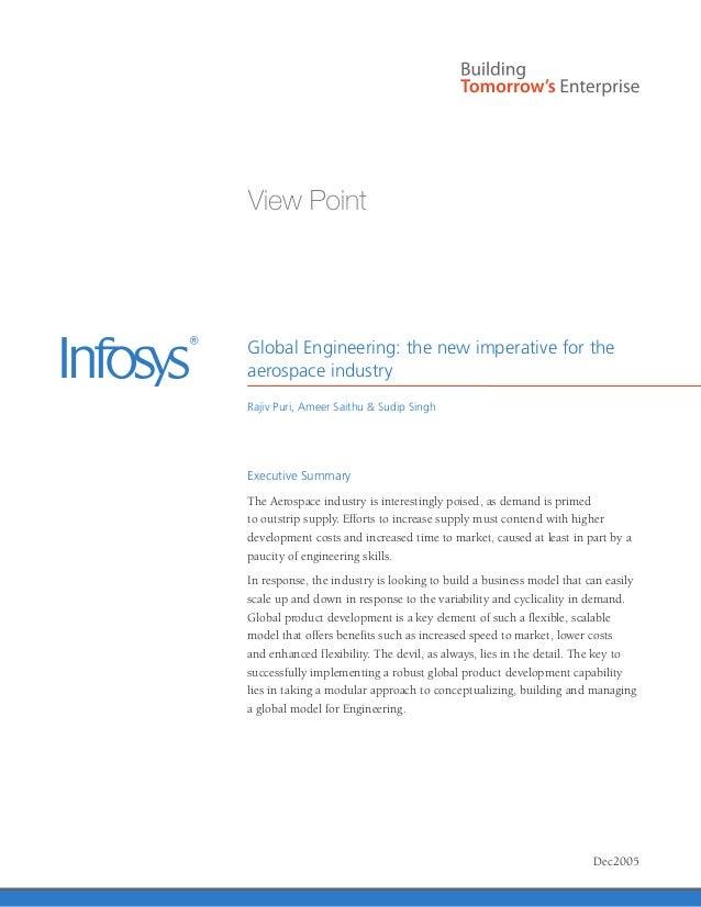Global Engineering: the new imperative for theaerospace industryRajiv Puri, Ameer Saithu & Sudip SinghExecutive SummaryThe...