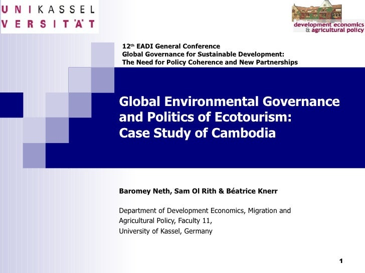 Global Environmental Governance and Politics of Ecotourism: Case Study of Cambodia