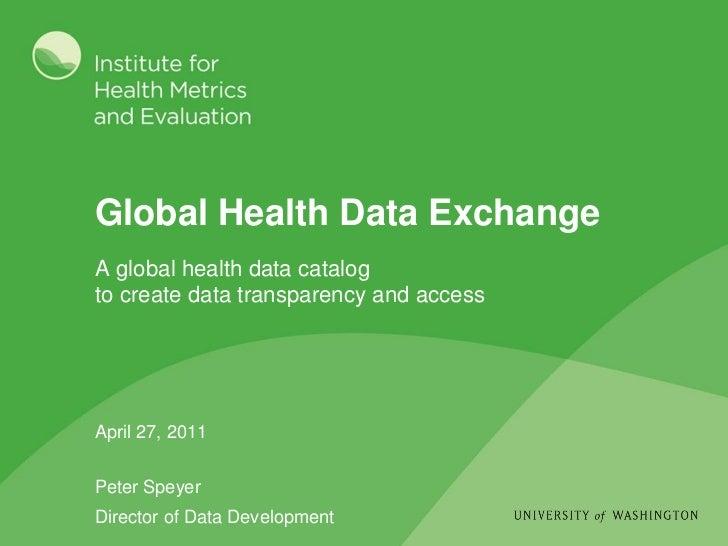 Global Health Data Exchange