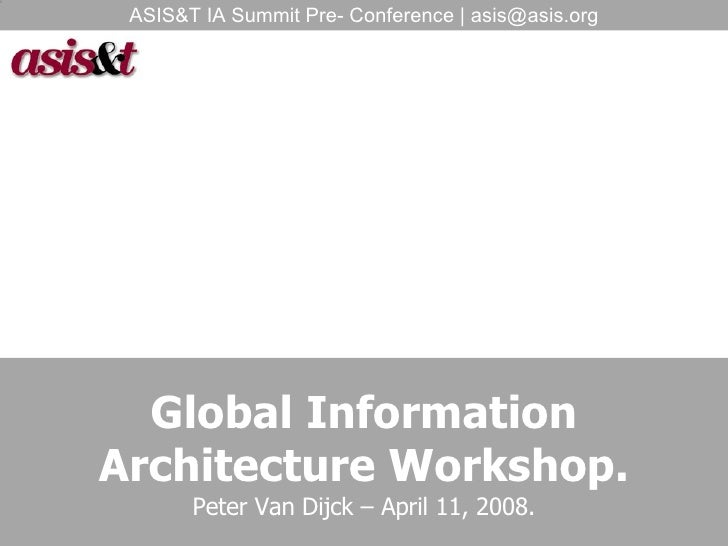Global Information Architecture Workshop