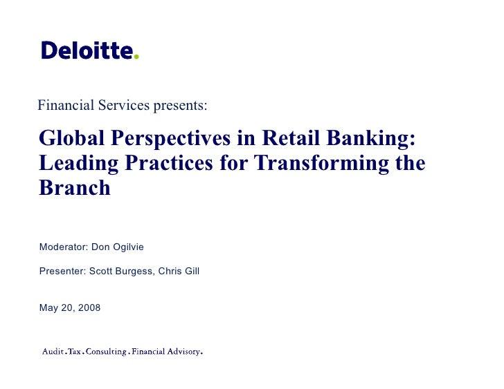 Global Perspectives In Retail Banking Webinar