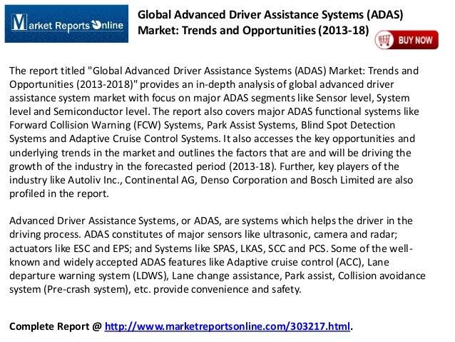 2018 Worldwide ADAS Industry Trends & Opportunities