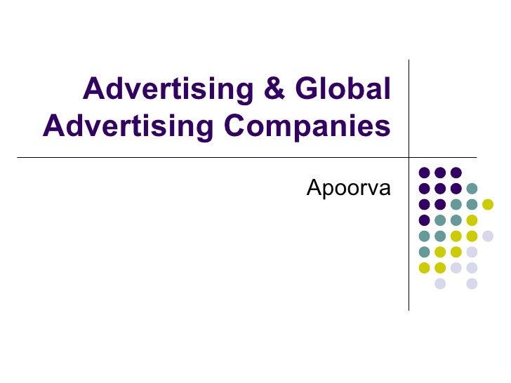 Advertising & Global Advertising Companies Apoorva