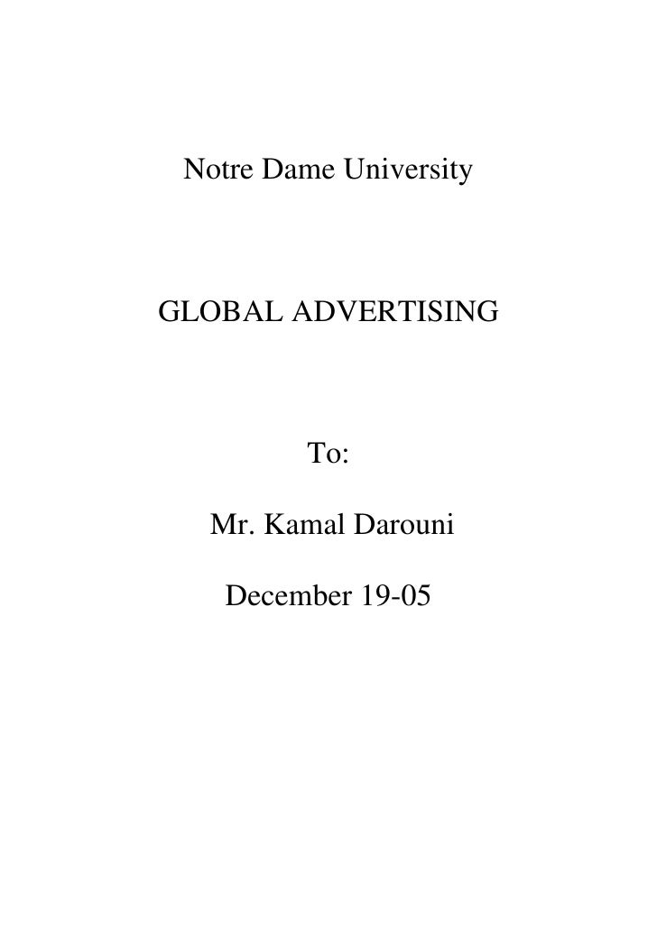 Term paper about advertising