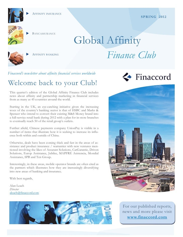 Global affinity finance club spring 2012