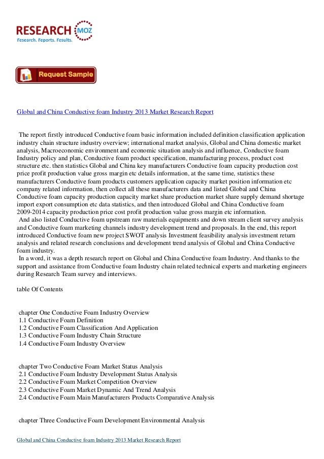 Global and China Conductive Foam Industry 2013