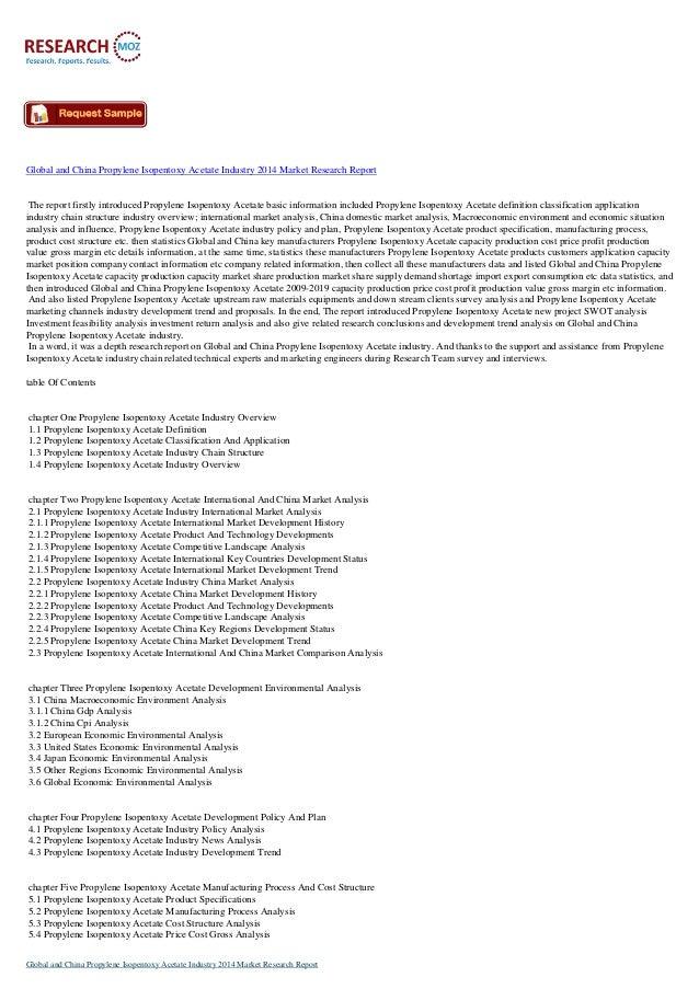 Global and China Propylene Isopentoxy Acetate Industry 2014
