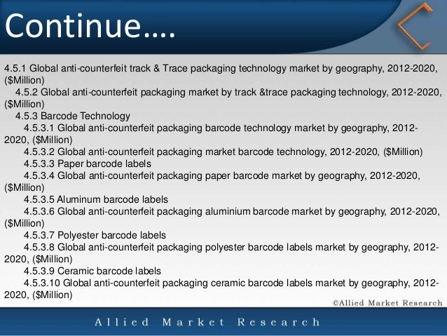 the global anti counterfeit packaging market Global anti-counterfeit packaging market in security documents and event ticketing - industry analysis, size, growth, trends, opportunities, and forecast, 2014 - 2020.