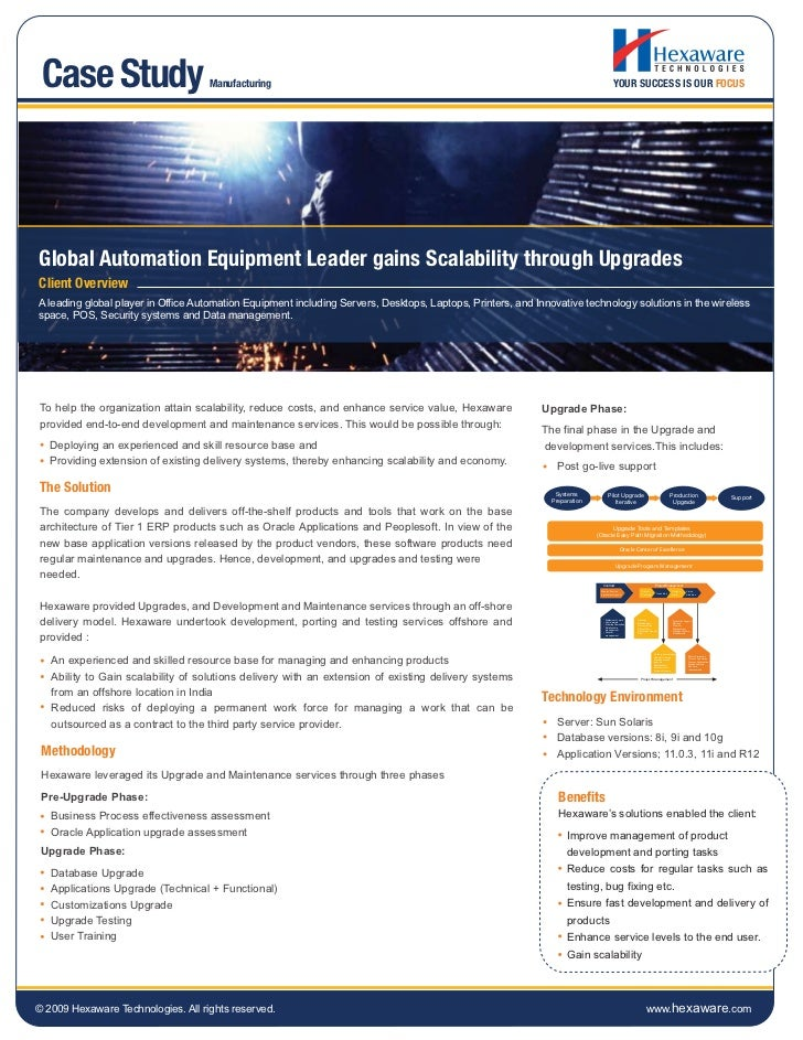 Global automation equipment leader gains scalability through upgrades