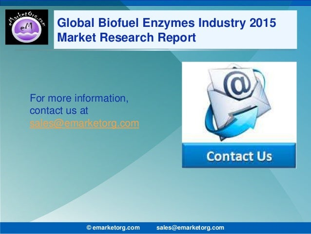 I need a research report on enzymes?