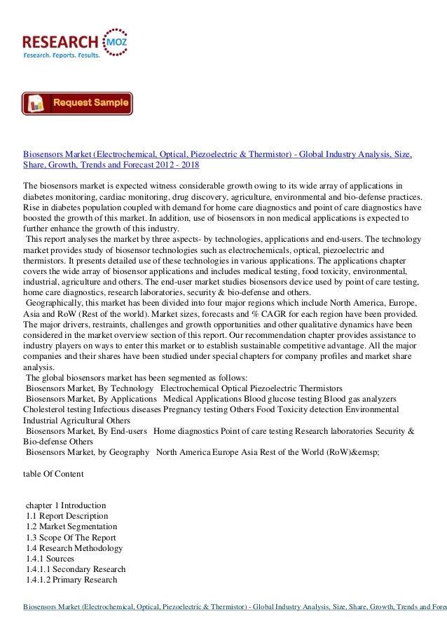 Global Biosensors Market 2012-2018: Latest Market Research Report