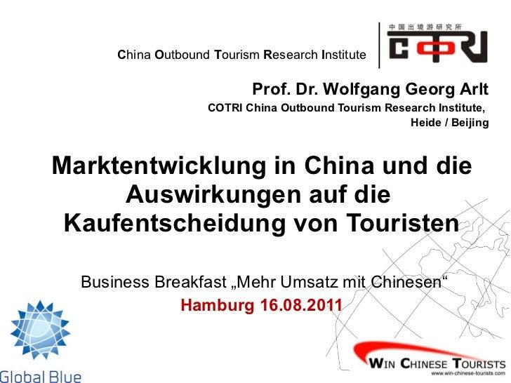 Marktentwicklung in China und die Auswirkungen auf die Kaufentscheidung von Touristen
