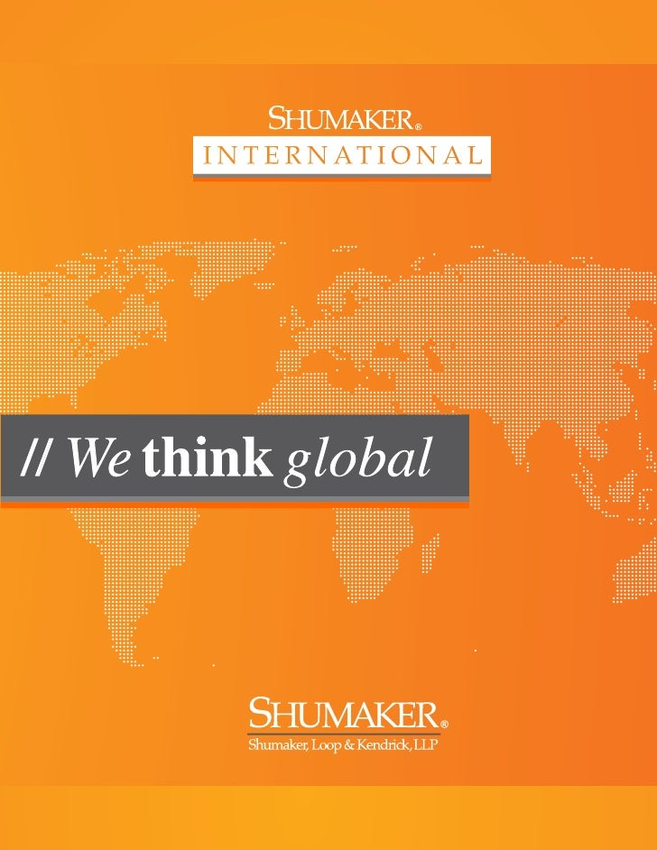 Shumaker International-We Think Global
