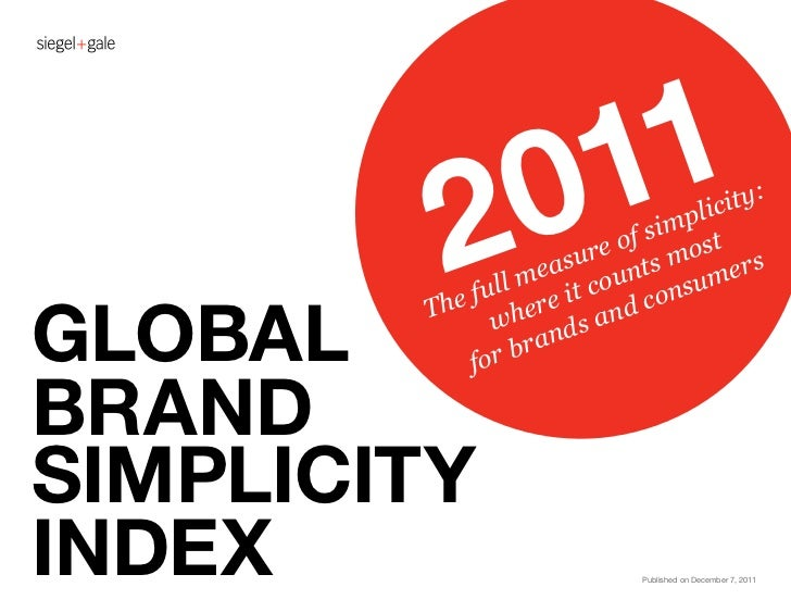 Global brand simplicity index 2011