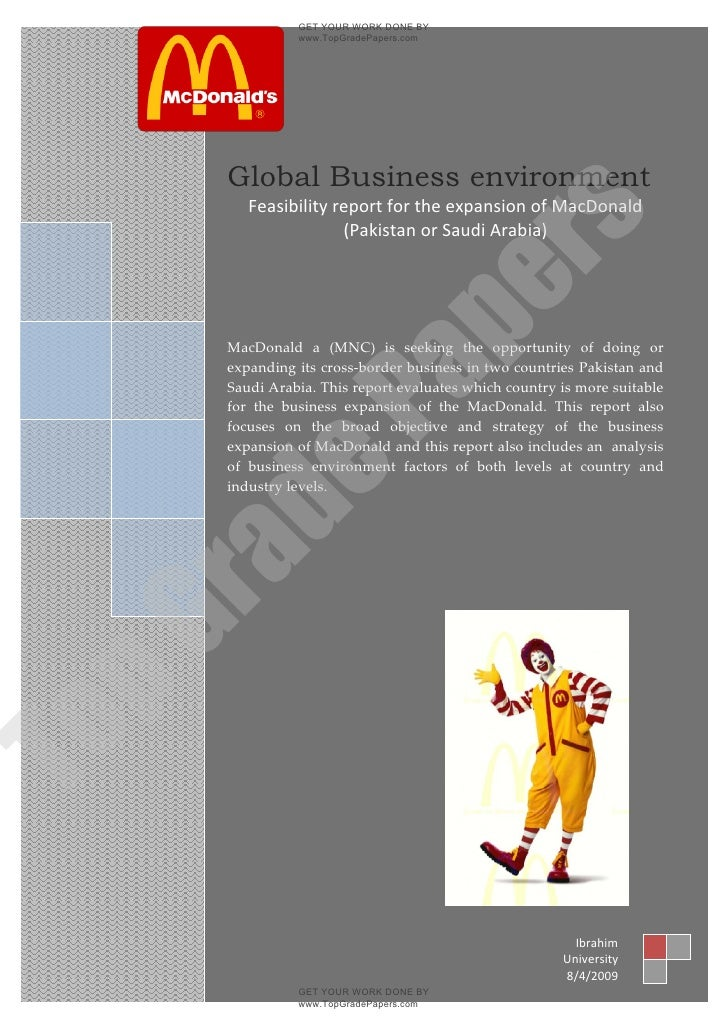GET YOUR WORK DONE BY                  www.TopGradePapers.com     2009        Global Business environment            Feasi...