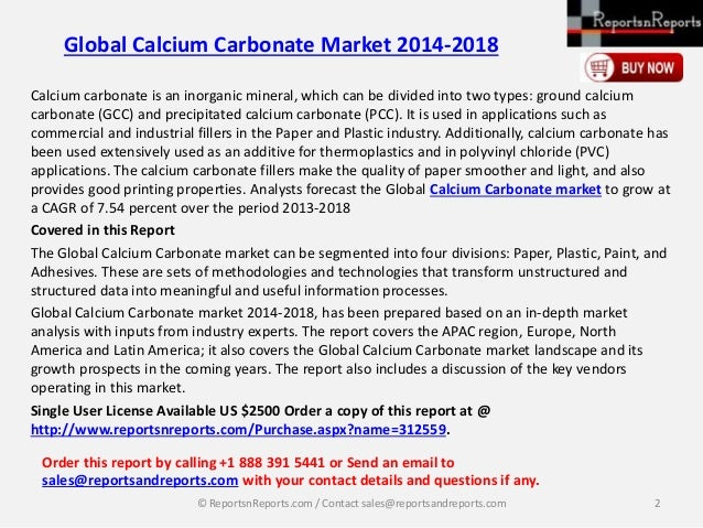 the global and chinese calcium carbonate Global and chinese ground calcium carbonate (gcc) industry 2019 market research report of 150 pages added to orbisresearchcom.