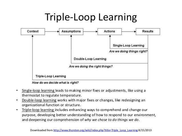 single loop and double loop models in research on decision The value proposition for change looking at some of the fundamental research as and move from the single-loop to the double-loop.