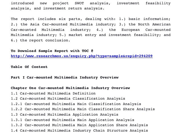 multimedia industry report The report focuses on global major leading car multimedia system industry players providing information such as company profiles, product picture and specification.
