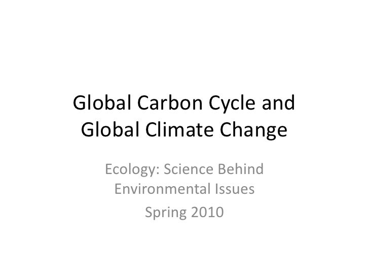 Global Carbon Cycle And Global Change