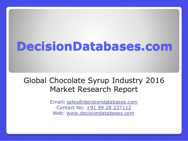 Research on chocolate