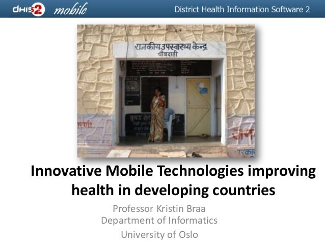 Innovative Mobile Technologies improving health in developing countries