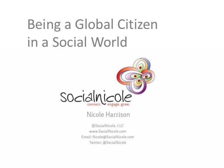 Being a Global Citizenin a Social World