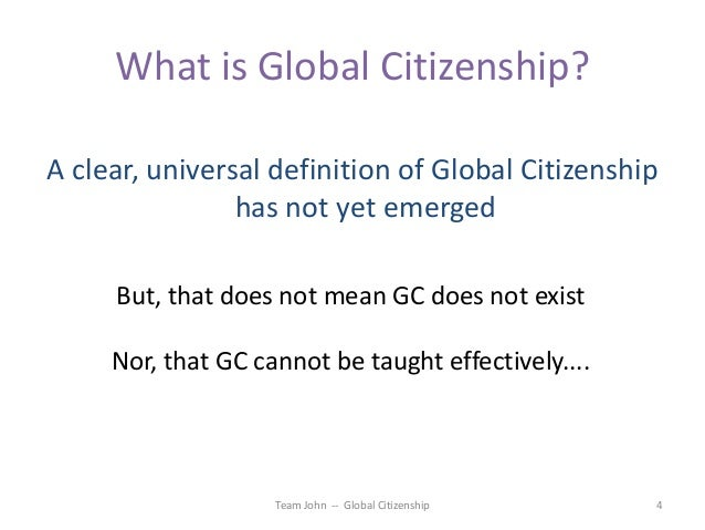 global citizenship 3 essay