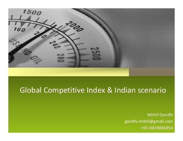Global competitive index & indian scenario