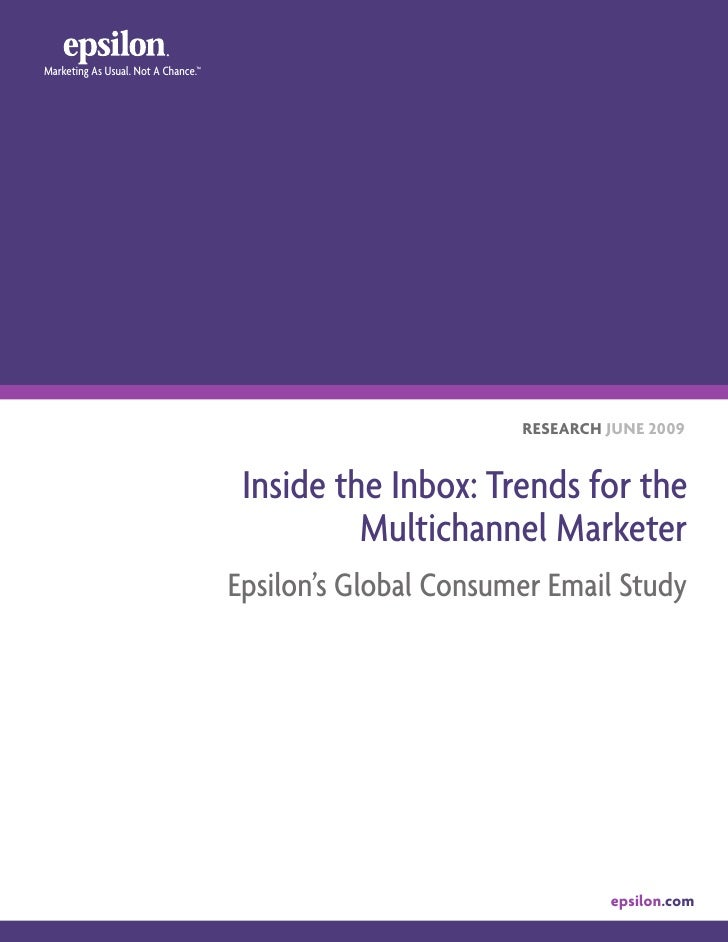 Global Consumer Email Study 6 4 09