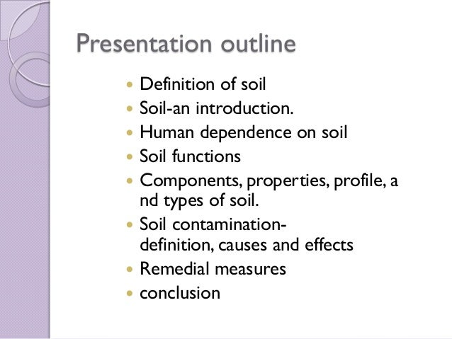 Global contamination of soil for Introduction of soil