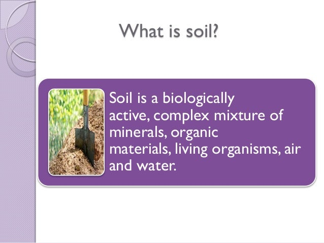 Global contamination of soil for Define organic soil