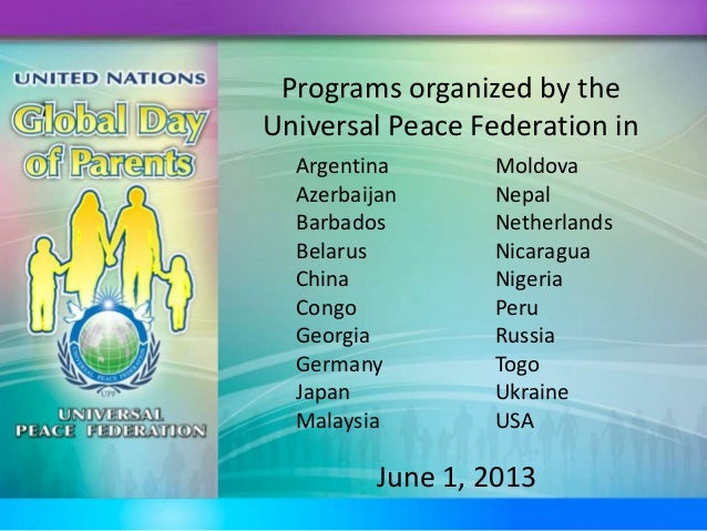 Global Day of Parents 2013