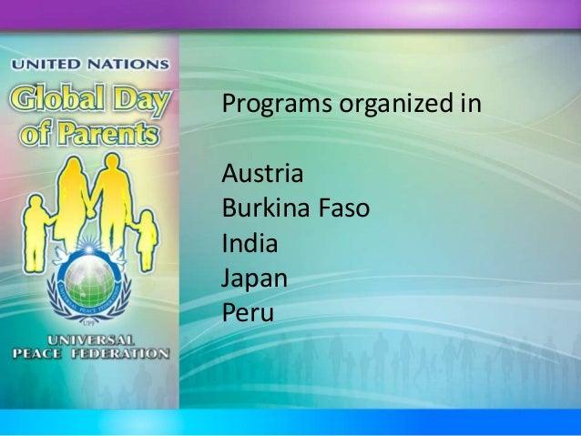Programs organized in Austria Burkina Faso India Japan Peru