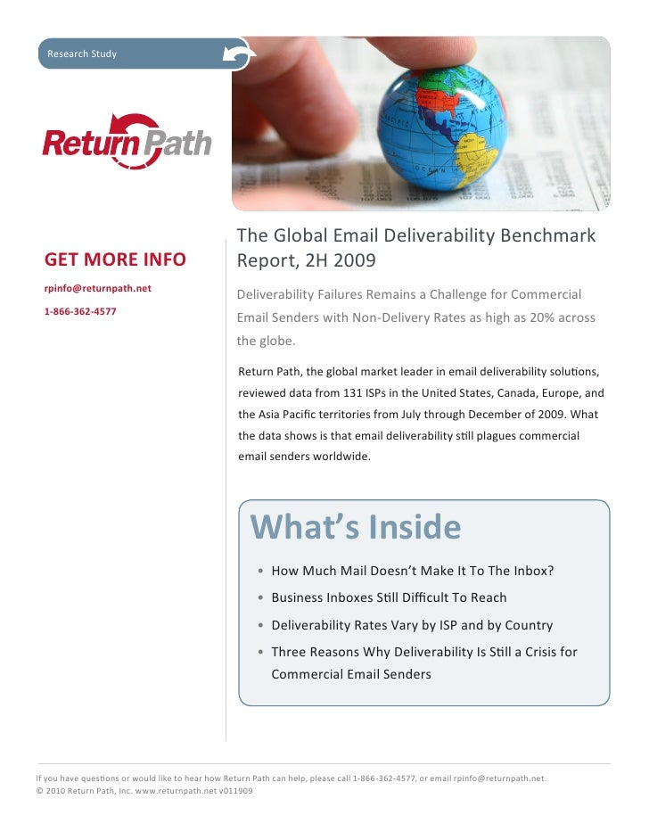 Research Study                                                       The Global Email Deliverability Benchmark   GET MORE ...