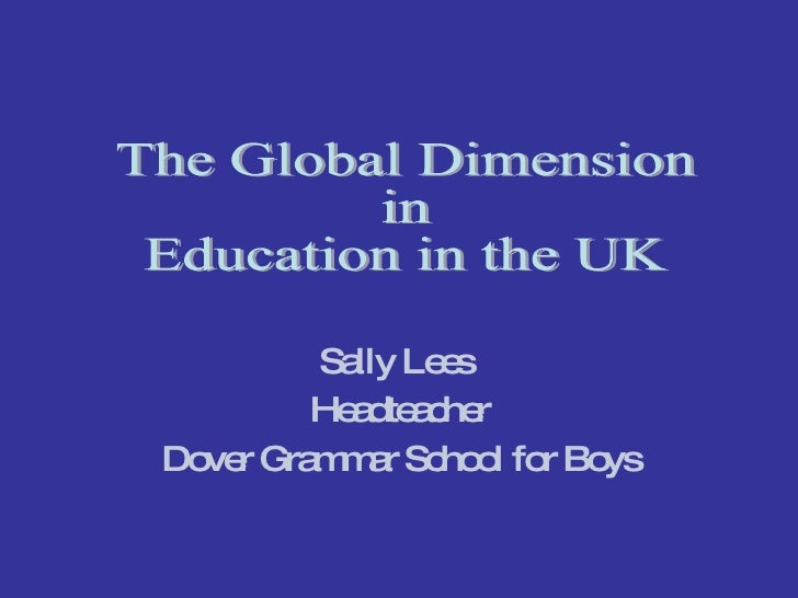 Speaker: Sally Lees Head teacher of Dover Grammar School for Boys