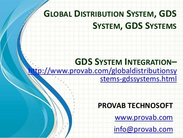 Global Distribution- GDS system
