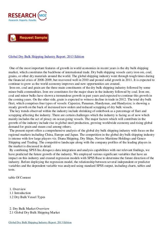 Global Dry Bulk Shipping Industry