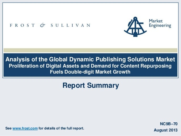 Analysis of the Global Dynamic Publishing Solutions Market Proliferation of Digital Assets and Demand for Content Repurpos...