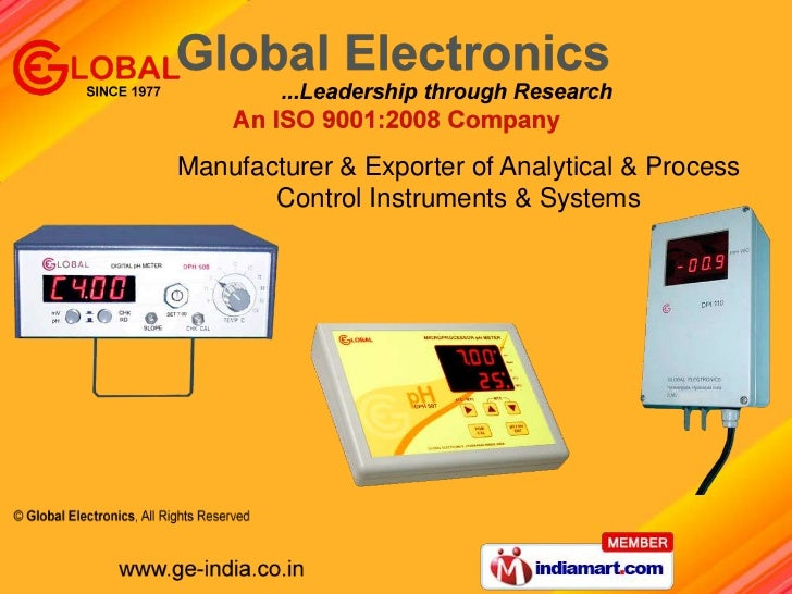 Manufacturer & Exporter of Analytical & Process <br />Control Instruments & Systems <br />