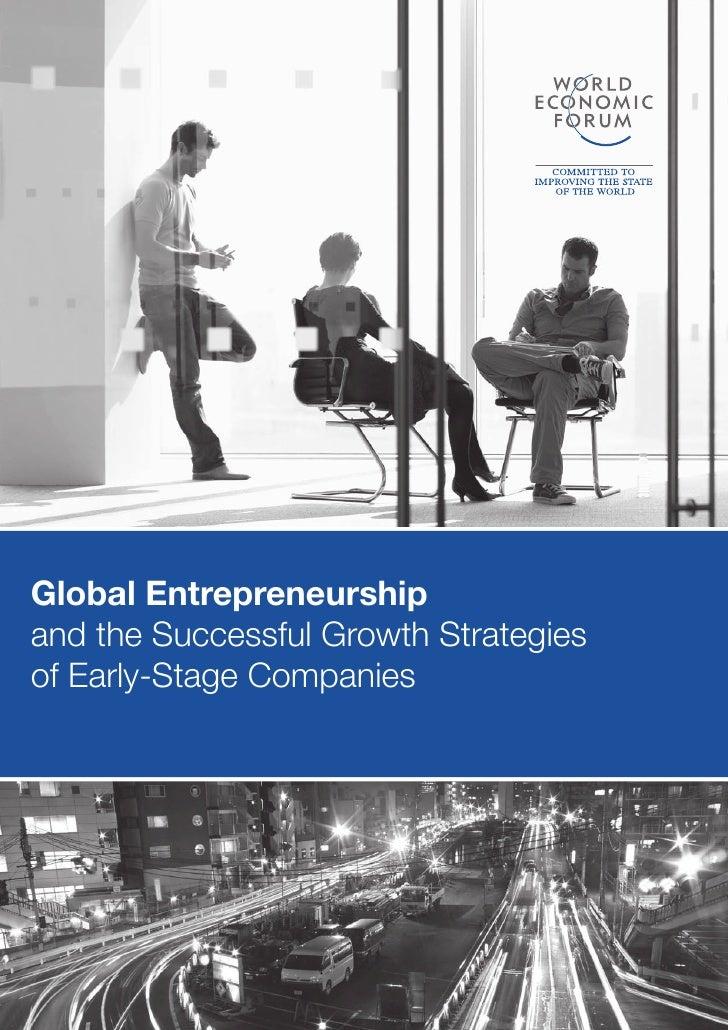 Global entrepreneurship 2011 world economic forum + stanford university