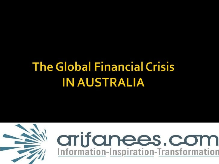 Global Financial Crises In Australia