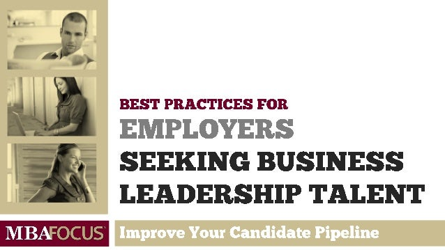 Best Practices for MBA Employers
