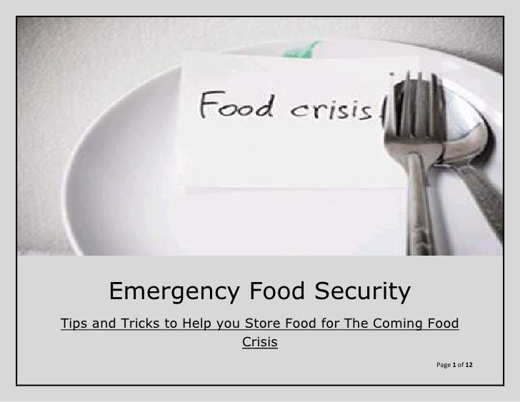 Global Food Crisis  - Be Prepared