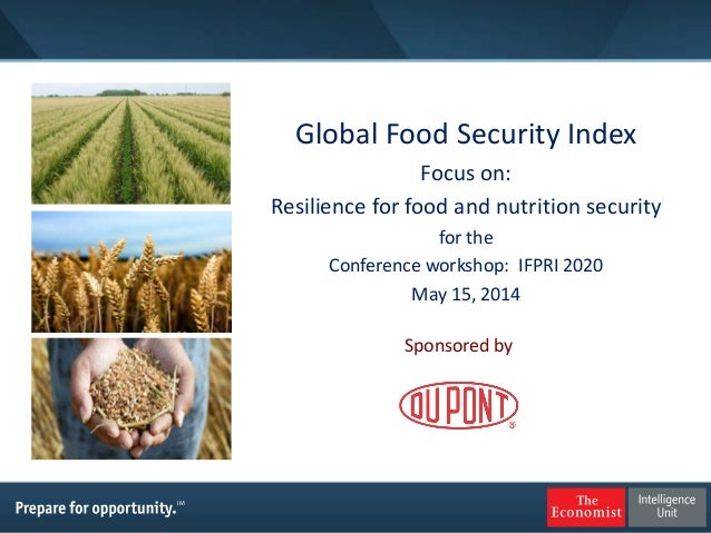 Global Food Security Index Focus on: Resilience for food and nutrition security for the Conference workshop: IFPRI 2020 Ma...