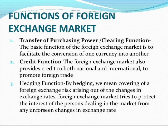 Features of foreign exchange market