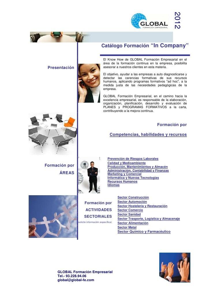 """2012                                       Catálogo Formación """"In Company""""                                        El Know ..."""