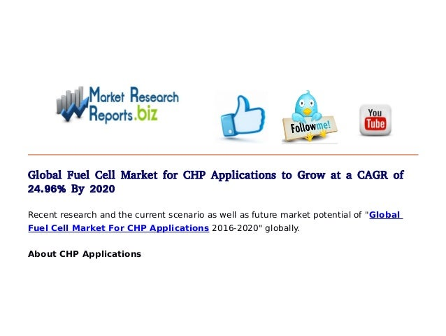 Global Fuel Cell Market Shares for CHP Applications Set to ...