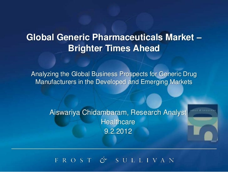 Global generic pharmaceuticals market – brighter times ahead