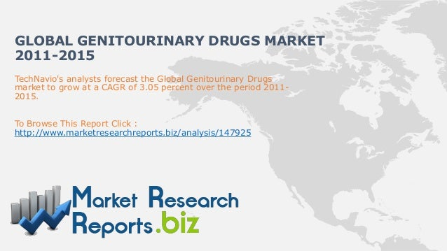 GLOBAL GENITOURINARY DRUGS MARKET2011-2015TechNavios analysts forecast the Global Genitourinary Drugsmarket to grow at a C...