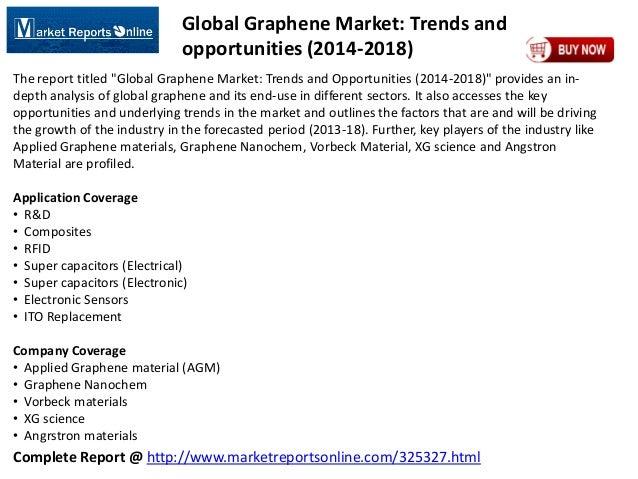 Complete Report @ http://www.marketreportsonline.com/325327.html Global Graphene Market: Trends and opportunities (2014-20...